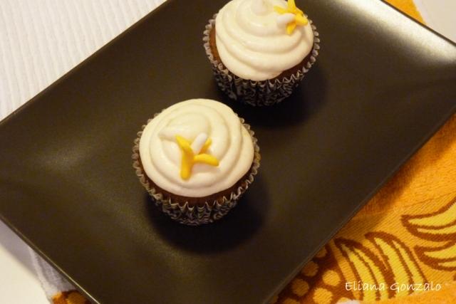 Cupcakes Canarios de Chocolate y Plátano