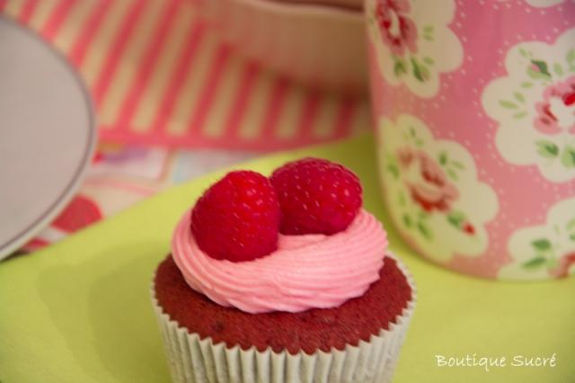 Cupcakes Red Velvet con Buttercream de Frambuesas