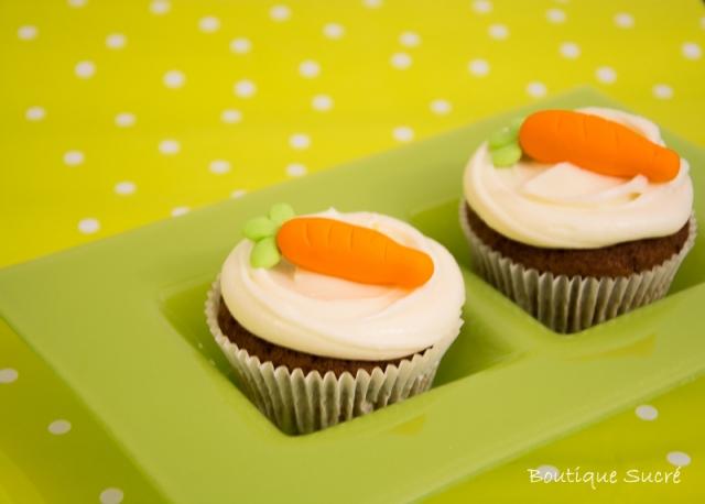 Cupcakes de Zanahoria con Frosting de Queso