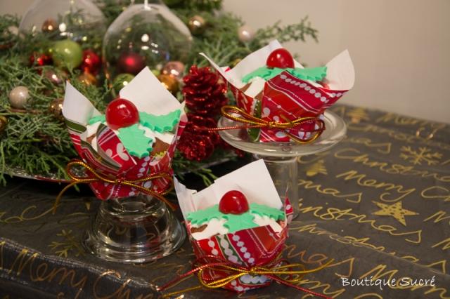 christmas Black Cupcakes