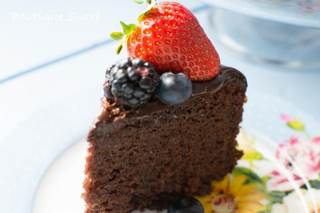 Tarta de Chocolate sin Azúcar y sin Lactosa