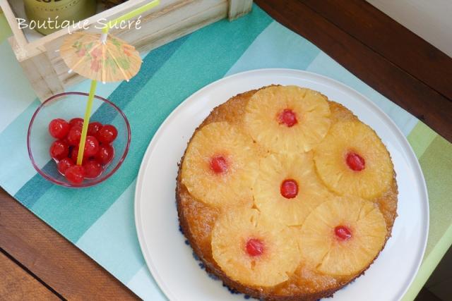 tarta de piña volteada
