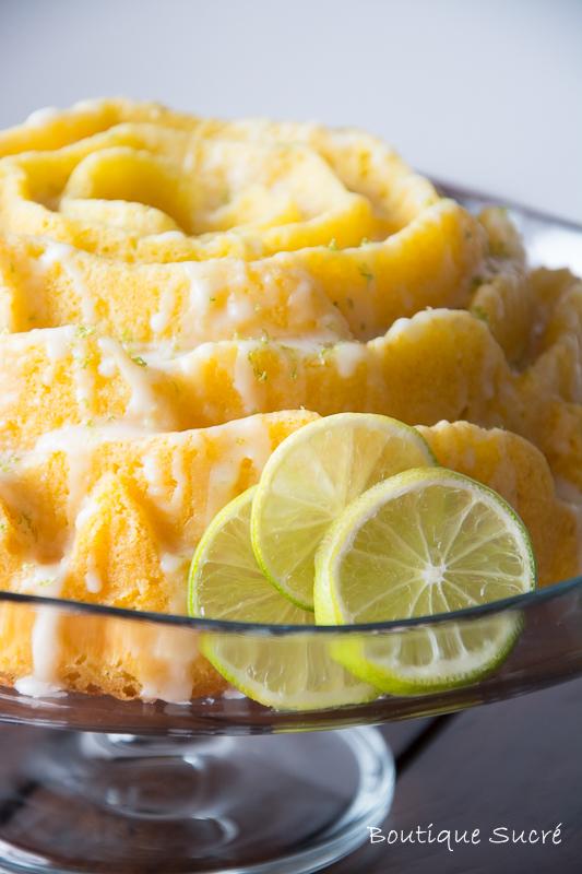 Bundt Cake de Limón, Lima y Jengibre