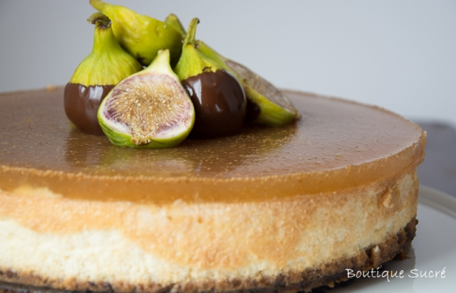 Cheesecake de higos y nueces pecanas