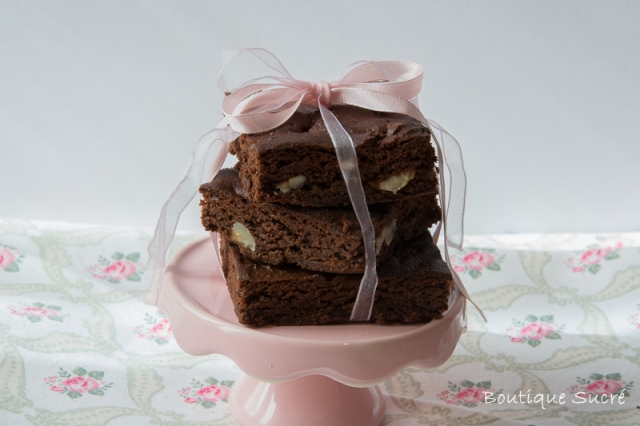 Brownies de Chocolate y Nueces sin azúcares