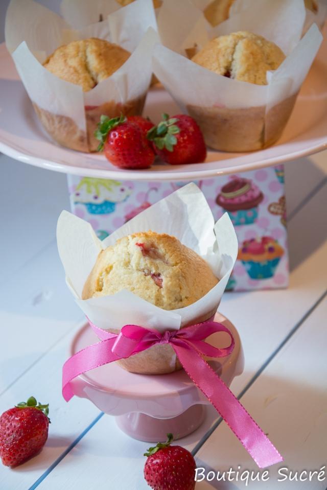 Muffins de Fresa y Coco