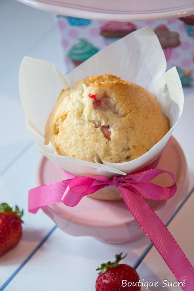 Muffins de Fresa y Coco.