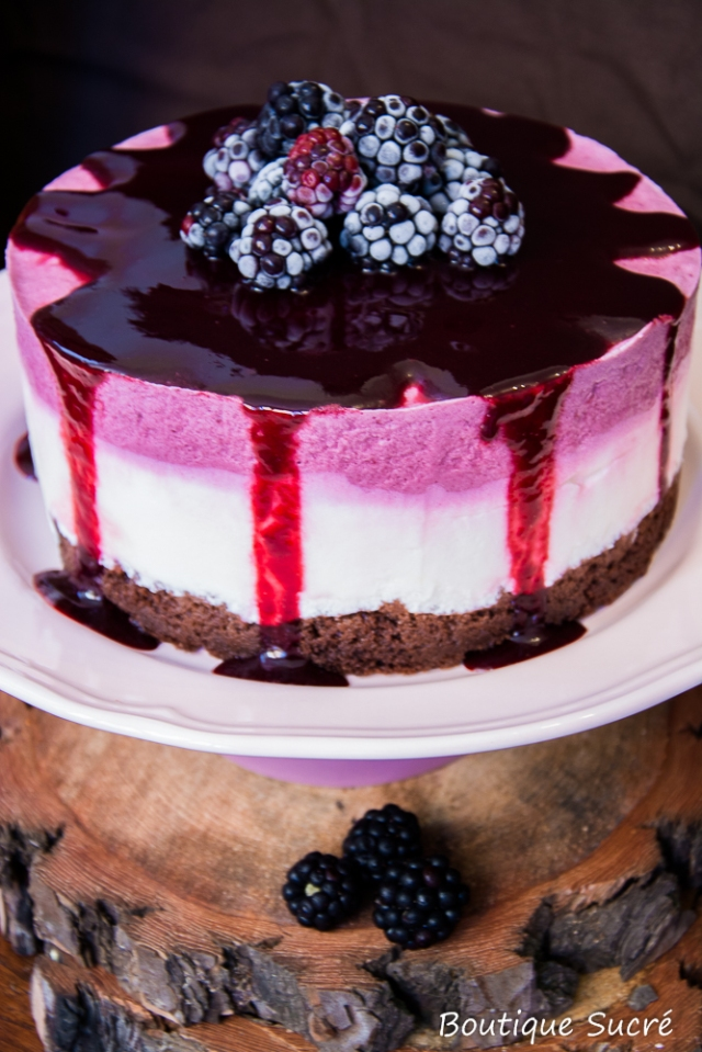 Tarta Mousse Yogurt y moras
