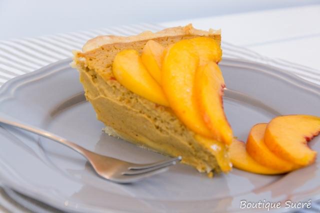 Tarta de Calabaza y Nectarinas