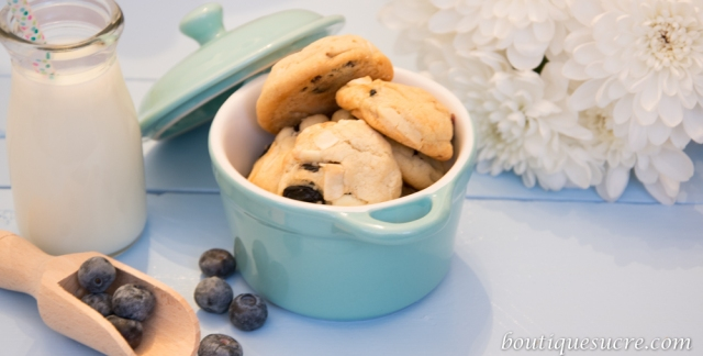 cookies choco blanco, arandanos y coco