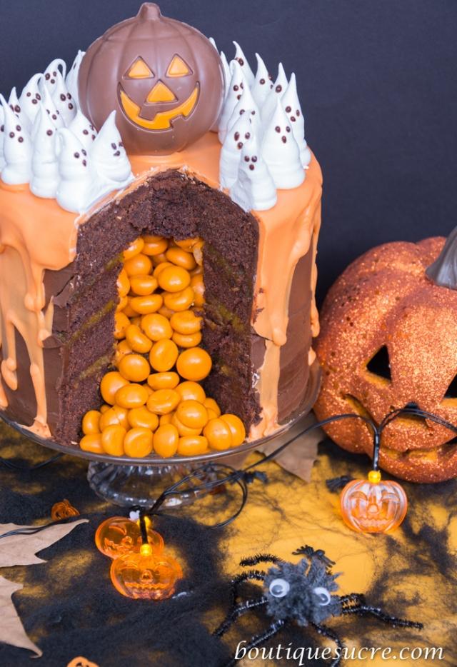 tarta piñata halloween