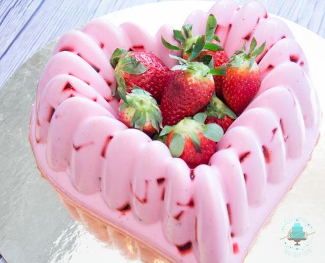 ggelatina de fresas con crema